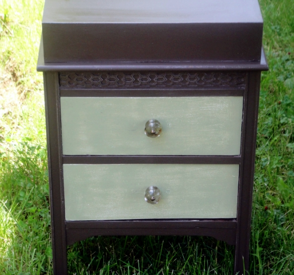 nightstand in van buren brown
