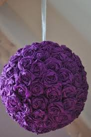 crepe paper flower ball 2