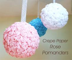 crepe papewr flower ball 10