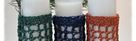 Tutorial crochet candle jar cover