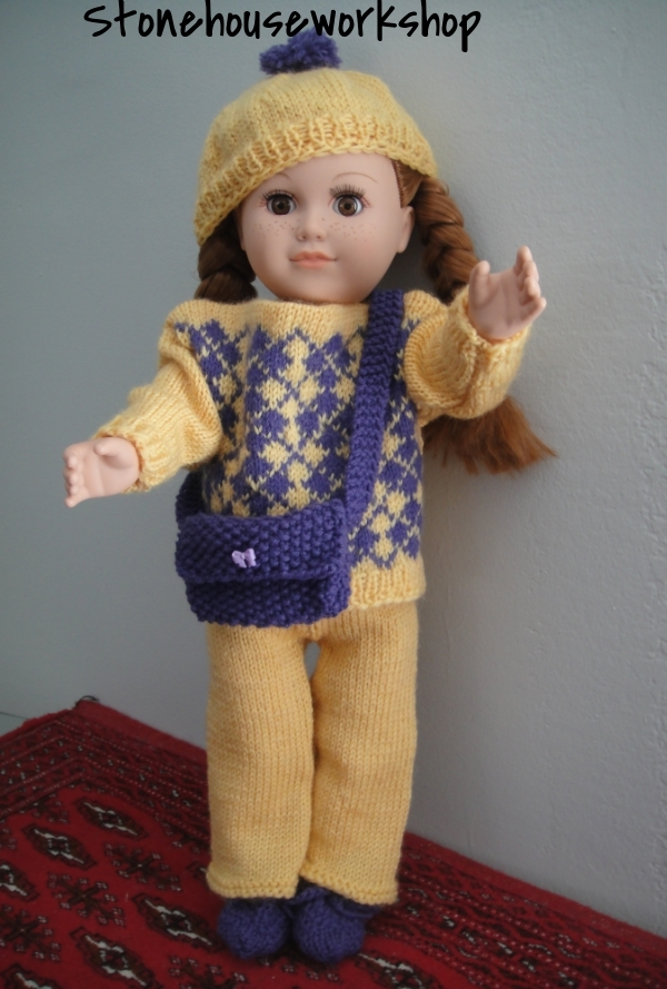 american girl hand knit outfit