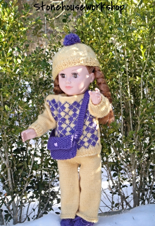 american girl hand knit sweater pants