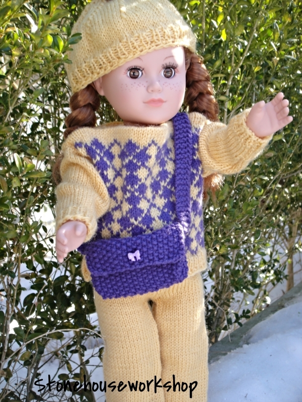"18"" doll knit outfit"