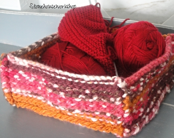 hand knit basket