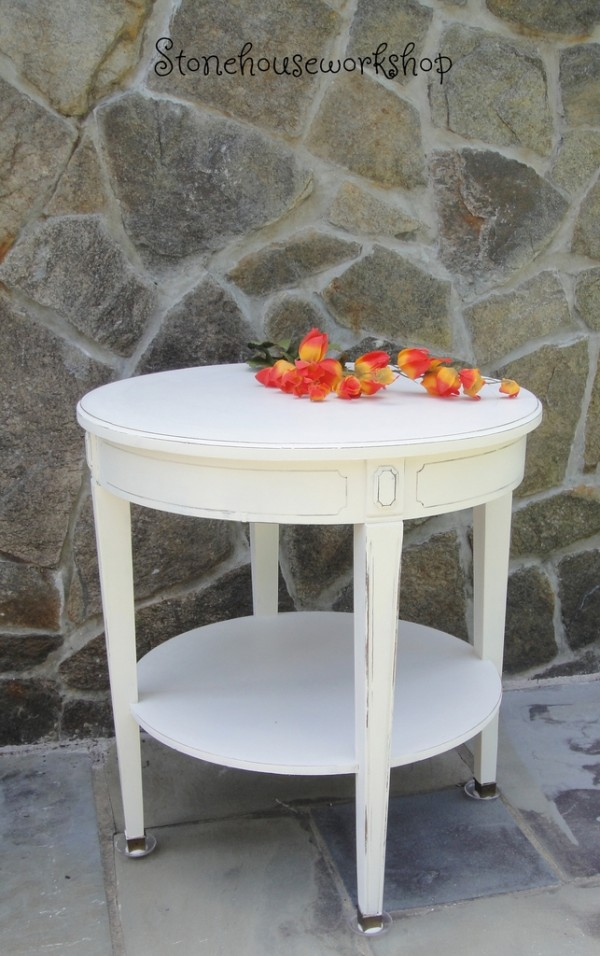 old white chalk paint table