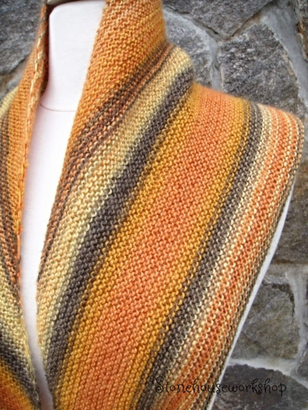 knitting pattern fall shawl