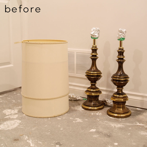 At First I Taped Off The Bulb Socket And Part Of The Cord. I Spray Painted  The Lamp Base With A Rustoleum Primer Specifically For Metals.