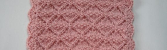 Hand knit dollhouse miniature bed blanket
